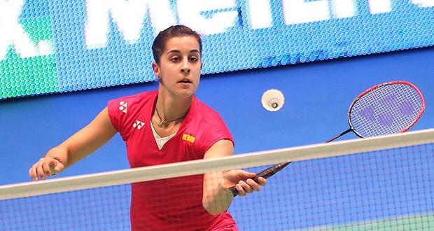 La campeona del mundo y de Europa en bádminton, Carolina Marín, en el All England. Fuente: Badminton Photo
