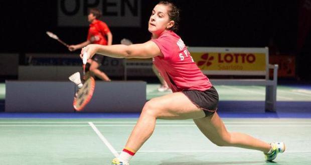 La jugadora andaluza, Carolina Marín, durante un encuentro. Fuente: Badminton