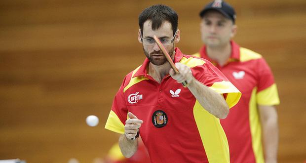 El jugador español de tenis de mesa, Eduardo Cuesta. Fuente: RFETM