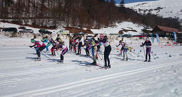 La competición de esquí de fondo del campeonato de España en Linza. Fuente: RFEDI