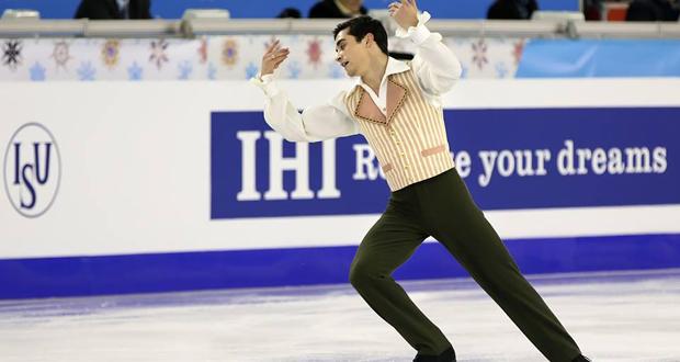 El patinador español, triple campeón de Europa, Javier Fernández. Fuente: Fedhielo