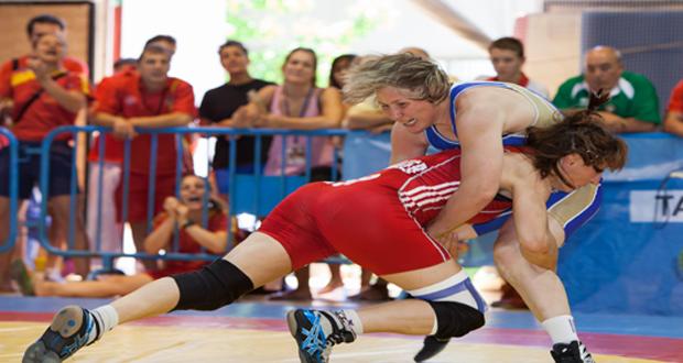 La alavesa Maider Unda, 15 veces campeona de España en lucha olímpica. Fuente: COE