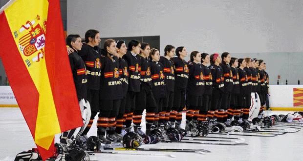 Selección femenina española de hockey hielo. Fuente: AD