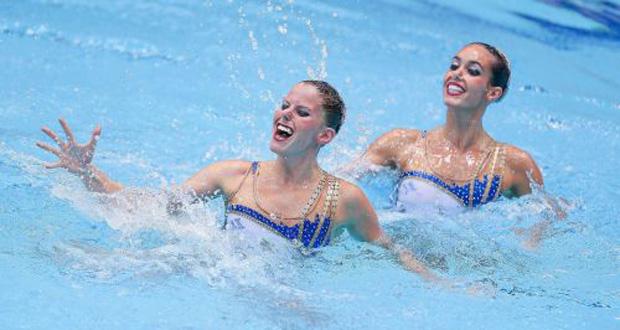 Paula Klamburg y Ona Carbonell durante una competición.