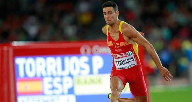 El triplista Pablo Torrijos durante su participación en el Europeo. Fuente: RFEA