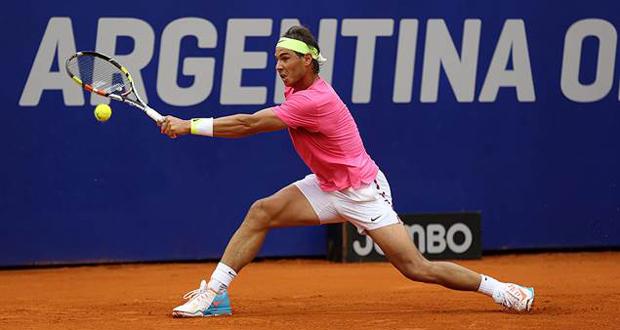 El balear Rafa Nadal durante la final del Open Argentina. Fuente: Sergio Llamera