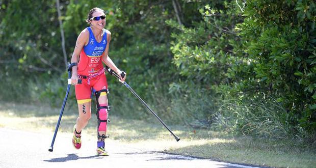 La triatleta española, Rakel Mateo, en la competición de Australia. Fuente: Dely Carr ITU Media