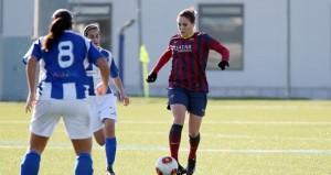 Ruth García con el Barcelona. Fuente: FCB