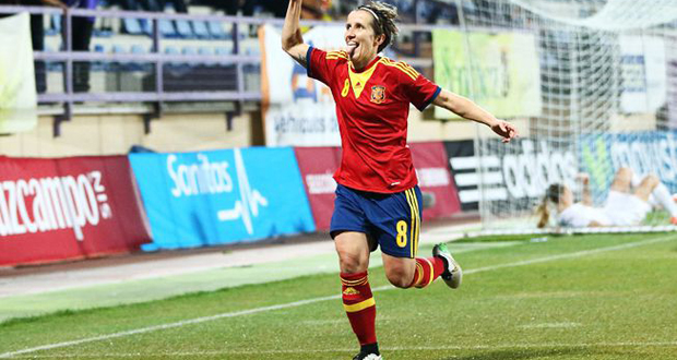 Sonia Bermúdez celebra su gol ante Nueva Zelanda. Fuente: Eidan Rubio-Sefútbol