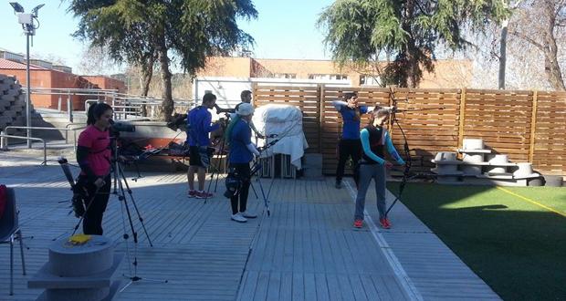 Los arqueros españoles durante un entrenamiento. Fuente: Juan Ignacio Rodríguez
