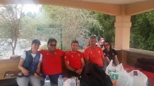 Selección española de tiro. Fuente: AD