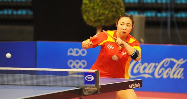 La jugadora española de origen asiático, Yanfei Shen, durante un partido. Fuente: Pablo Rubio