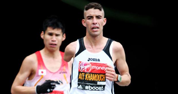 El atleta español, Abderrahman Ait, durante una carrera. Fuente: AD