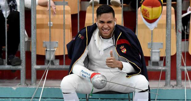 El español Yulen Pereira durante el Mundial de esgrima. Fuente: esgrima.es