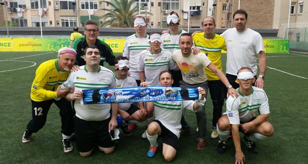 El equipo ONCE Málaga tras ganar a Tarragona. Fuente: AD