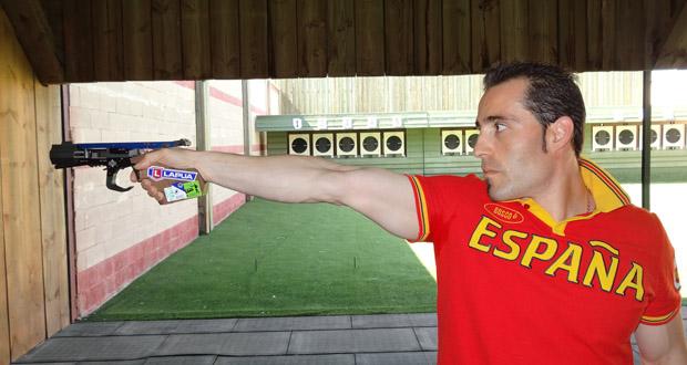 El tirador asturiano de pistola velocidad, Jorge Llames. Fuente: AD