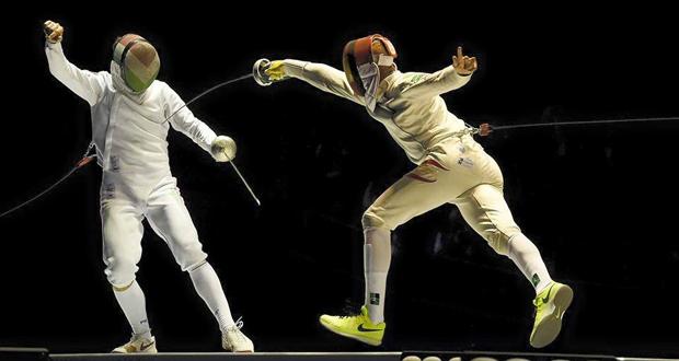 El tirador español, Yulen Pereira (a la derecha), durante el Mundial. Fuente: esgrima.es