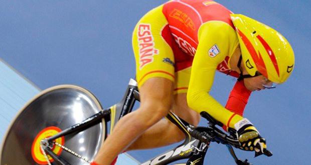 El ciclista cordobés, Alfonso Cabello, durante una competición en el velódromo. Fuente: CSD