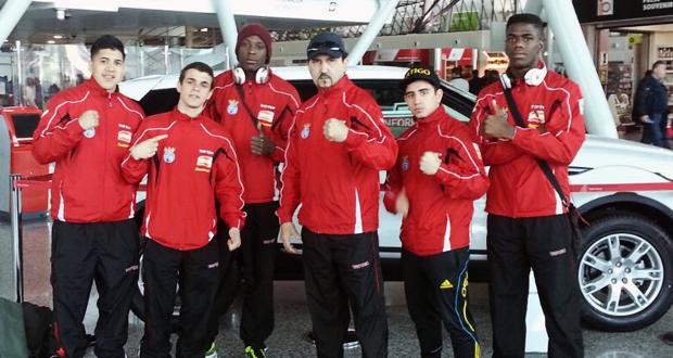 Los boxeadores españoles que compitieron en Albania. Fuente: feboxeo