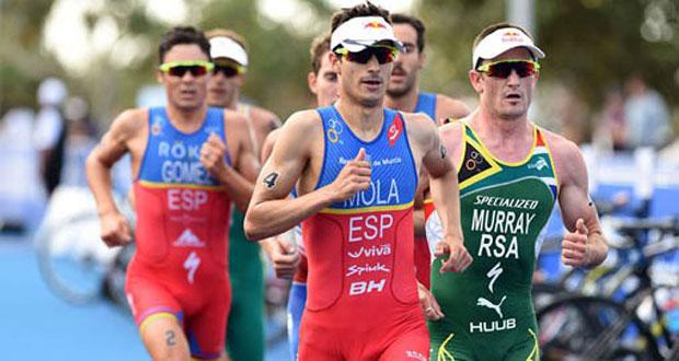 Mola y Gómez Noya. Fuente: Delly Carr / ITU Media