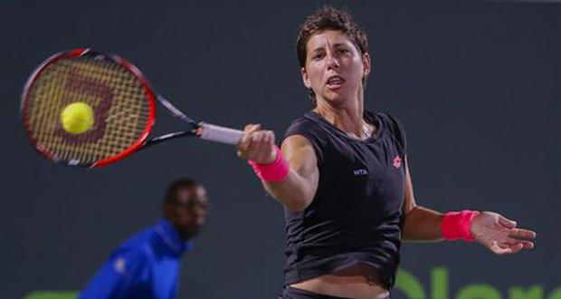 La tenista canaria, Carla Suárez, alcanza la primera semifinal de su carrera en un gran torneo. Fuente: WTA