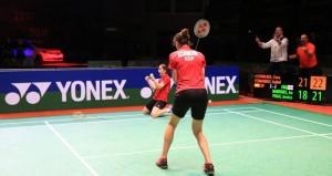 Clara e Isa tras ganar la final. Fuente: badminton Europe
