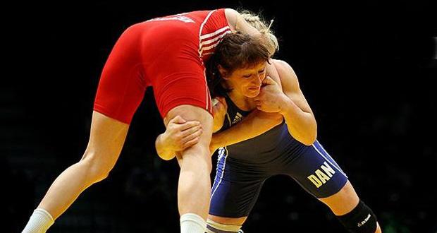 La luchadora alavesa, Maider Unda, durante un combate. Fuente: Felucha