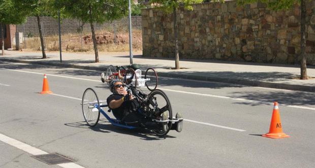 El handbiker catalán, Martin Berchesi, campeón de la Copa de España. Fuente: AD