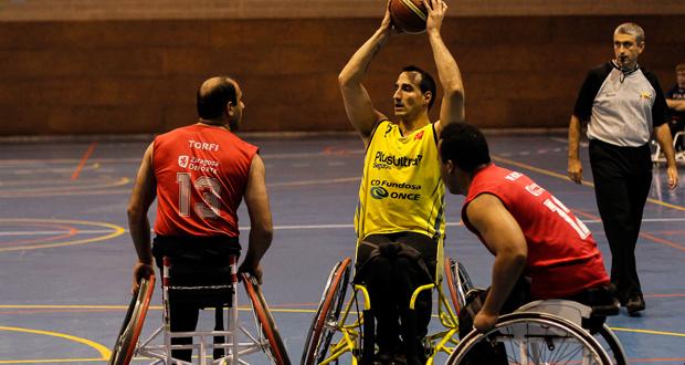 El jugador andaluz, Pablo Zarzuela, en un partido con el CD Ilunion. Fuente: jomamarami photos