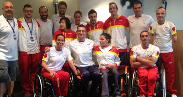 Equipo española de natación paralímpica. Fuente: Feddf