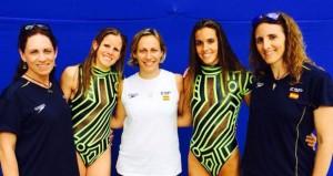 Esther Jaumà, Paula Klamburg, Ana Montero, Ona Carbonell e Irina Rodríguez. Fuente: Rfen