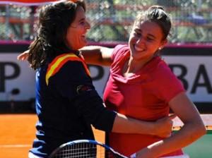 Conchita Martínez y Sara Sorribes. Fuente: Rfet