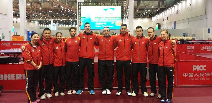 Selección española de tenis de mesa. Fuente: Rfetm