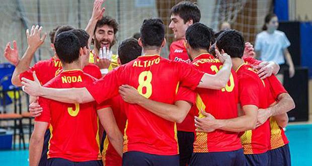 La selección española de voleibol se juega estar en el Europeo en el mes de mayo. Fuente: RFEVB