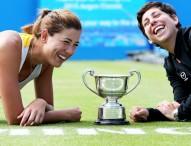 Primer título en hierba para Carla Suárez y Garbiñe Muguruza