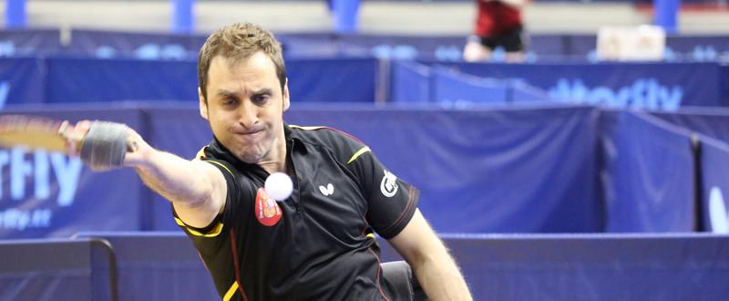 El jugador de tenis de mesa, Iker Sastre, durante un partido. Fuente: RFETM