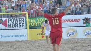 El jugador de Torredembarra. Fuente: AD