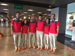 El equipo español de tiro con arco. Fuente: AD