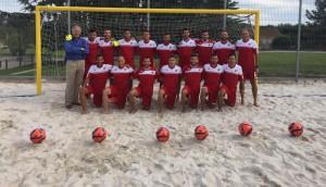 El equipo español de fútbol playa. Fuente: AD