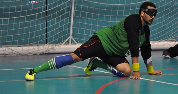 El jugador de goalball, Javier Serrato, durante un partido. Fuente: Goalball.es