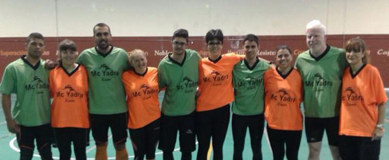 Los jugadores de la selección española masculina y femenina de goalball. Fuente: AD