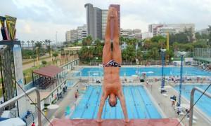Juan Pablo antes de saltar. Fuente: AD