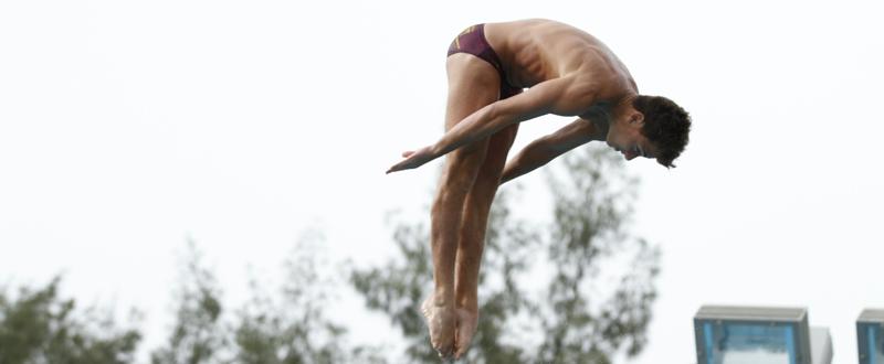 El saltador canario, Juan Pablo Socorro, durante una competición. Fuente: AD