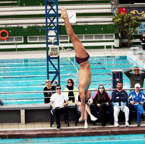 Juan Pablo en un salto. Fuente: AD