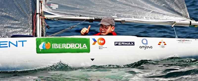 El regatista alicantino, Rafa Andarias, durante una competición. Fuente: AD