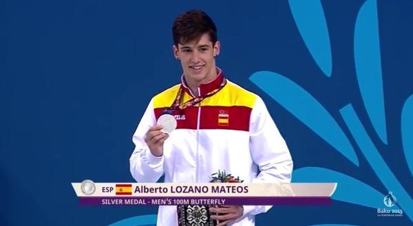 Alberto Lozano, plata en Baku