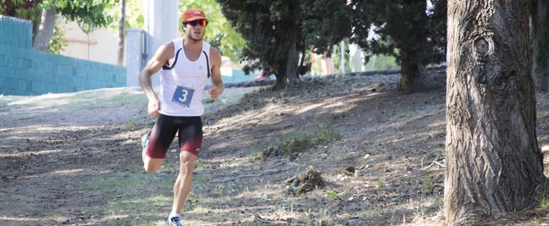 El pentatleta español Aleix Heredia durante la carrera a pie. Fuente: AD