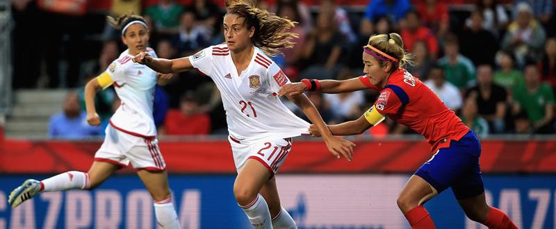 Alexia Putellas en un momento del partido ante Corea. Fuente: FIFA