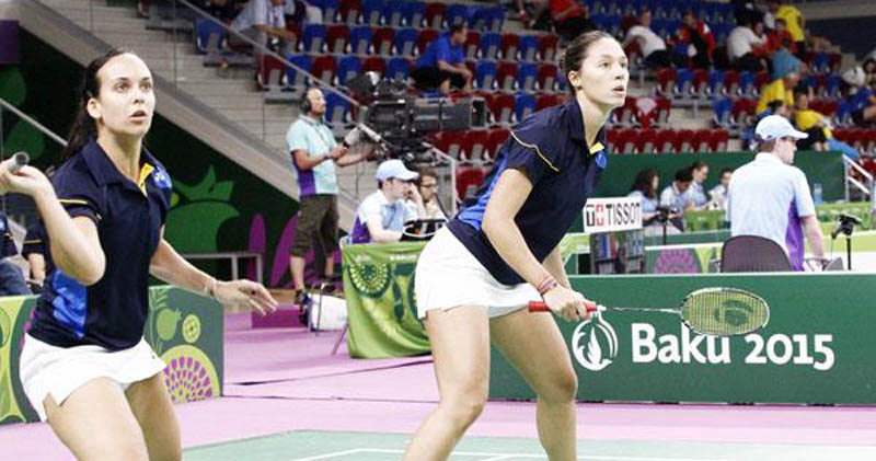 La pareja de dobles, Laura Molina-Haideé Ojeda, en los Juegos Europeos de Baku. Fuente: COE