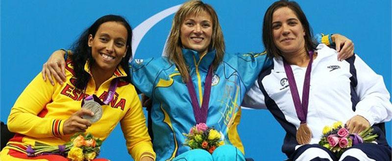 Teresa Perales durante los Juegos Paralímpicos en Londres. Fuente: Londres2012.com